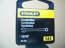 "NEW  STANLEY  LONG  FULL  POLISH  COMBINATION  WRENCH  15/16""  INCH"