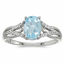 FABULOUS Brilliant CUT CREATED AQUAMARINE SILVER RING SIZE 6-9 Oval Aquamarine