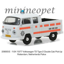 GREENLIGHT 29890 E 1977 VW VOLKSWAGEN TYPE 2 DOUBLE CAB 1/64 NETHERLANDS POLICE