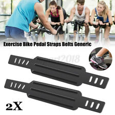 Pair Universal Adjustable Gym Exercise Cycle Bike Bicycle Pedal Strap Stationary