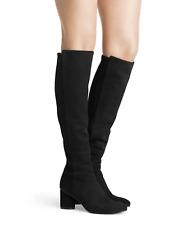 $765 STUART WEITZMAN Black Suede ELOISE 75 Pull On Tall Knee High Boots 8.5 US