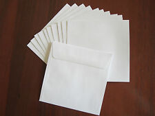 150 x 150mm White Square Envelopes 100gsm Pack of 10 High Quality Lick N Seal