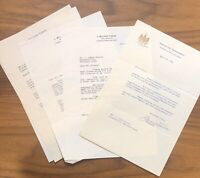 LOT OF J Millard Tawes Governor of Maryland Signed Autograph TSL LETTERS