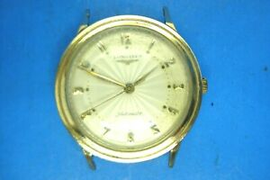 VINTAGE LONGINES AUTOMATIC WATCH--CAL 19AS--10K GOLD FILLED--SUNBURST DIAL--RUNS