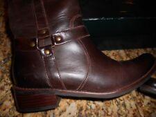 NIB Women's Shoes Ralph Lauren SANYA Riding Boots Leather Dark Brown/Blk Size 8