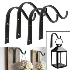 US 4 Pack Iron Wall Hooks Metal Lantern Bracket Coat Hook Plant Planter Hangers