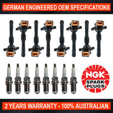 8x Genuine NGK Spark Plugs & 8x Ignition Coils for BMW 535i 540i 735iL 740iL
