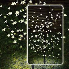 4ft Blanco LED Energía Solar Flor Bonsai árbol Jardín Exterior Luces De Navidad