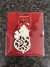 New Christmas Lenox Charms Pierced Snowman Ornament Nip