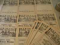 Masonic Constellation Freemasonry Antique Newspaper Knights Templar Mason 1893