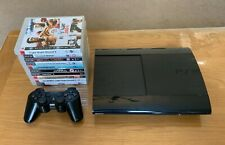 500GB Sony PlayStation 3 PS3 Super Slim Console + Controller + 10 Games Bundle