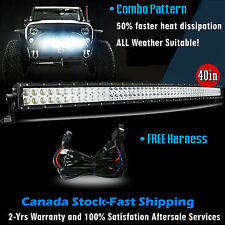 40 inch LED Light Bar Curved Off Road Truck Boat Ford Jeep SUV 4WD UTE 4x4 42