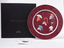 "BVLGARI Porcelain Dinner Plate Dish Saucer Tableware Ornament Auth Rare New 12"""