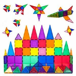 Picasso Tiles 60 Piece Set 60pcs Building Tiles Clear Magnetic 3D Building Block