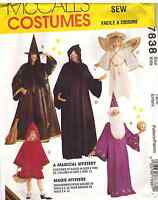 7838 UNCUT Vintage McCalls SEWING Pattern Halloween Costumes Wizard Witch Kids