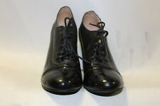 Ladies Black Pixie Boot Brogues Size 39 Uk 6 Lace Up Shoes Sexy Heels