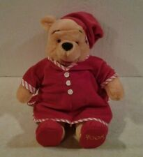 "Walt Disney Company plush15"" WINNIE THE POOH in Night shirt & cap & slippers NEW"
