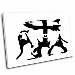 Banksy Heavy Artillery Canvas Wall Art Print Framed Picture PREMIUM QUALITY 5