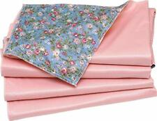 4 PK - Washable Bed Pad Floral Print with Pink Vinyl/Chair Pads 17X24