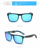 DUBERY Blue Men's Polarized Sunglasses Large Cycling Outdoor Sport Driving