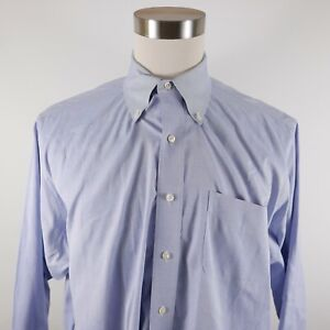 Brooks Brothers Mens Supima Traditional Fit LS Button Up Light Blue Shirt 17-34