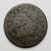 1810/9 Classic Head Large Cent S-281 Overdate