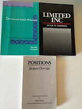 JACQUES DERRIDA -  4 PAPERBACK BOOKS -  VERY GOOD CONDITION