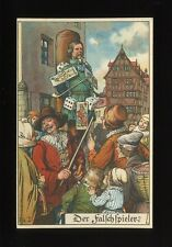 Germany Der Falschspieler Cheat card sharp chained to post c1900/10s? PPC