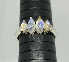 925 Sterling Silver Natural Moonstone Ring Size 11 Signed Ja Indonesia