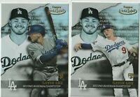 2020 TOPPS GOLD LABEL Gavin Lux RC Los Angeles Dodgers CLASS 1 & 2 - 2 CARD LOT