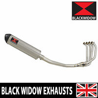KAWASAKI ZRX 1100 Full Exhaust System Oval Stainless/Carbon Tip Silencer 400ST
