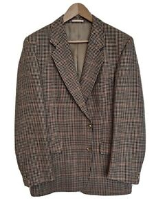 Mens MAGEE 1866 Houndstooth Check Tweed Midweight Sports Jacket 44
