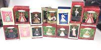 15 Barbie Hallmark Christmas Ornaments Lot Celebration Club Edition More