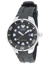 Citizen Men's BN0070-09E Eco-Drive Professional Diver Black Rubber Strap Watch