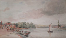 """James Paul André the Younger, """"At Henley"""" Original Watercolour 1857"""