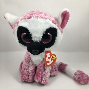 "TY Beanie Boos 6"" LEEANN Lemur Stuffed Animal Toy Plush MWMT Retired Collectible"