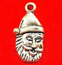 50Pcs. WHOLESALE Tibetan Silver Christmas SANTA Charms Earring Drops Q0562