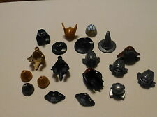 Lego Minifigure Accessories lot of 17 Hats/Helmets/Hair Styles/Egyptian/Ninja+