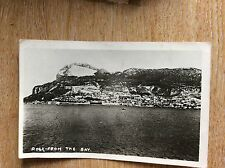 U1-3 postcard  used no stamp rp gibraltar the rock from the bay