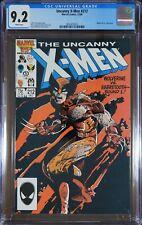 X-Men #212 & #213 - CGC 9.2/9.0 - WOLVERINE VS. SABRETOOTH (2 comics)