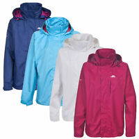 Trespass Womens Rain Jacket Hooded Waterproof Wind Coat Lighweight