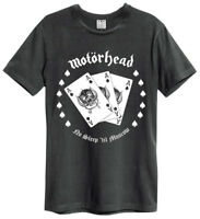 Motorhead T Shirt Amplified Official Ace Cards No Sleep 'Til Moscow Metal Gift