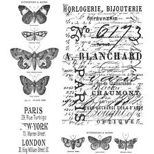 """TIM HOLTZ """"PAPILLON RED RUBBER CLING STAMP SET CMS106 """" - NEW"""