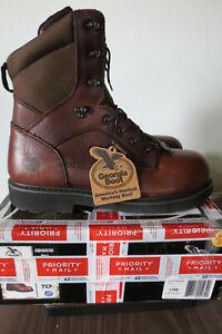 "NEW NIB Georgia Boot work boots GB00035 Mens Glennville 8"" 13W composite toe"