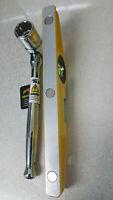 7/16 (21mm) Heavy Duty Scaffold BI HEX Spanner & HI VIZ Spirit Level 2 IN1 Tools