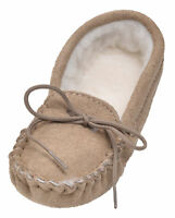 Childrens Sheepskin Moccasin Slippers UK Made Wool Lined Soft Sole by Lambland