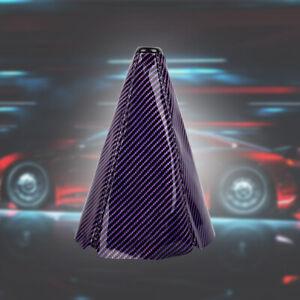 JDM Purple Carbon Fiber Shift Boot Stitch 4 Gear Cover MT/AT Shifter Shift Knob