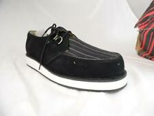 TUK A7648 BLACK SUEDE STRIPED CANVAS WHITE SOLE 2 EYE CREEPERS US 13 NOS