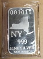 New York US State 1oz. 999 Fine Silver Bar - Mint Sealed - Limited Edition