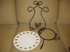 Southern Living at Home Dress Me Up Plate & Two SLAH Wrought Iron Stands